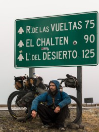 Hitching to El Chalten.