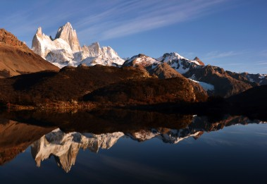 Sunrise over Fitz Roy. Photo by Paul.